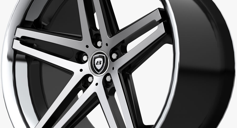 Rims Collection - Asanti & Brabus & HRE & Lexani & Rotiform & Vossen & Vorsteiner & WALD royalty-free 3d model - Preview no. 8