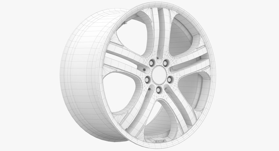 Rims Collection - Asanti & Brabus & HRE & Lexani & Rotiform & Vossen & Vorsteiner & WALD royalty-free 3d model - Preview no. 58