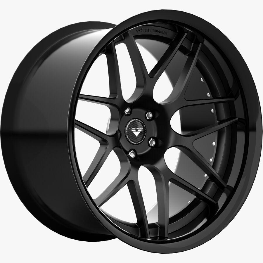 Rims Collection - Asanti & Brabus & HRE & Lexani & Rotiform & Vossen & Vorsteiner & WALD royalty-free 3d model - Preview no. 22