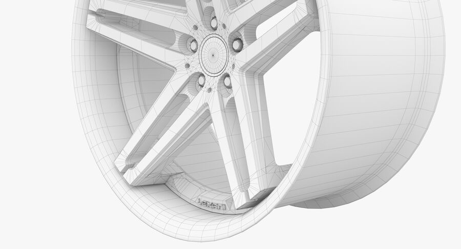 Rims Collection - Asanti & Brabus & HRE & Lexani & Rotiform & Vossen & Vorsteiner & WALD royalty-free 3d model - Preview no. 56