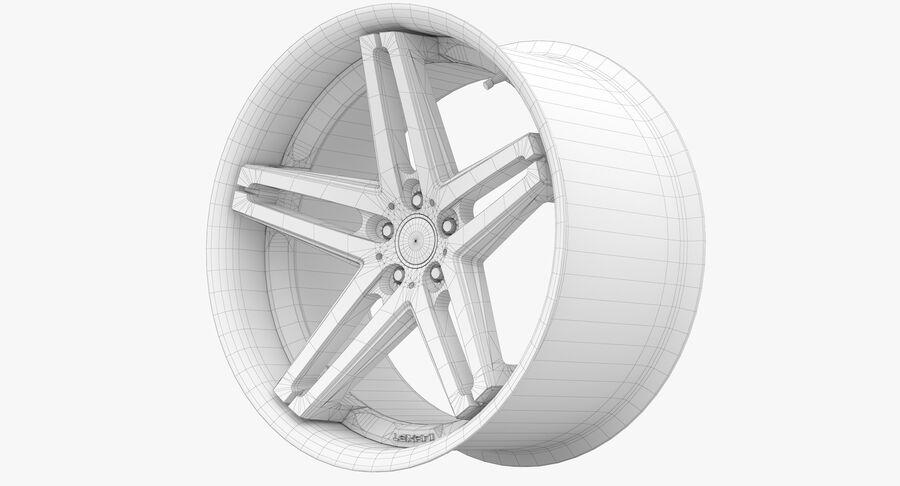 Rims Collection - Asanti & Brabus & HRE & Lexani & Rotiform & Vossen & Vorsteiner & WALD royalty-free 3d model - Preview no. 55