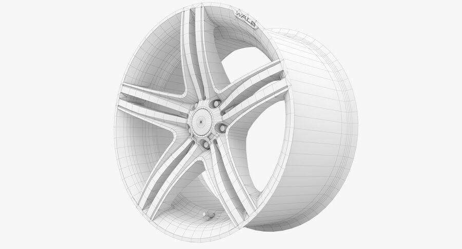 Rims Collection - Asanti & Brabus & HRE & Lexani & Rotiform & Vossen & Vorsteiner & WALD royalty-free 3d model - Preview no. 79