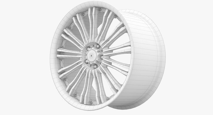 Rims Collection - Asanti & Brabus & HRE & Lexani & Rotiform & Vossen & Vorsteiner & WALD royalty-free 3d model - Preview no. 87