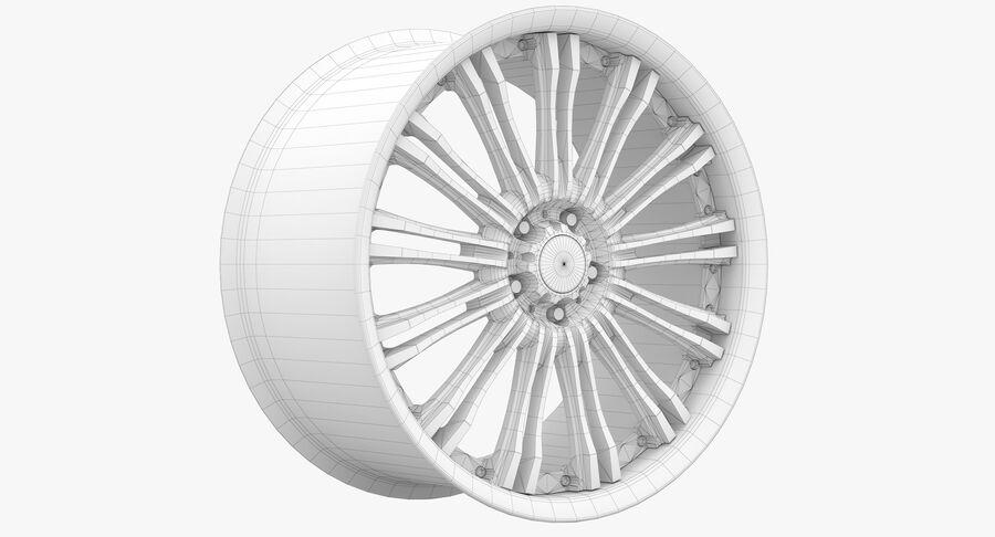 Rims Collection - Asanti & Brabus & HRE & Lexani & Rotiform & Vossen & Vorsteiner & WALD royalty-free 3d model - Preview no. 86