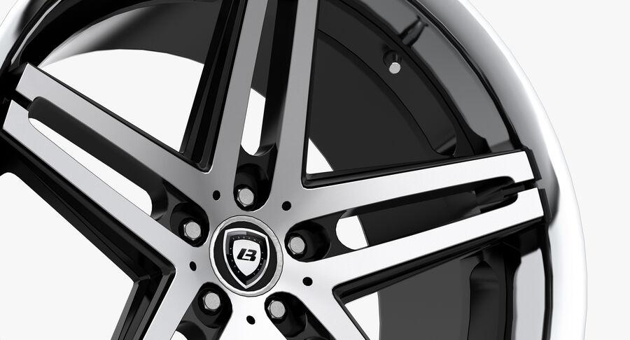 Rims Collection - Asanti & Brabus & HRE & Lexani & Rotiform & Vossen & Vorsteiner & WALD royalty-free 3d model - Preview no. 9