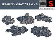 Urban förstörelse PACK 5 3d model
