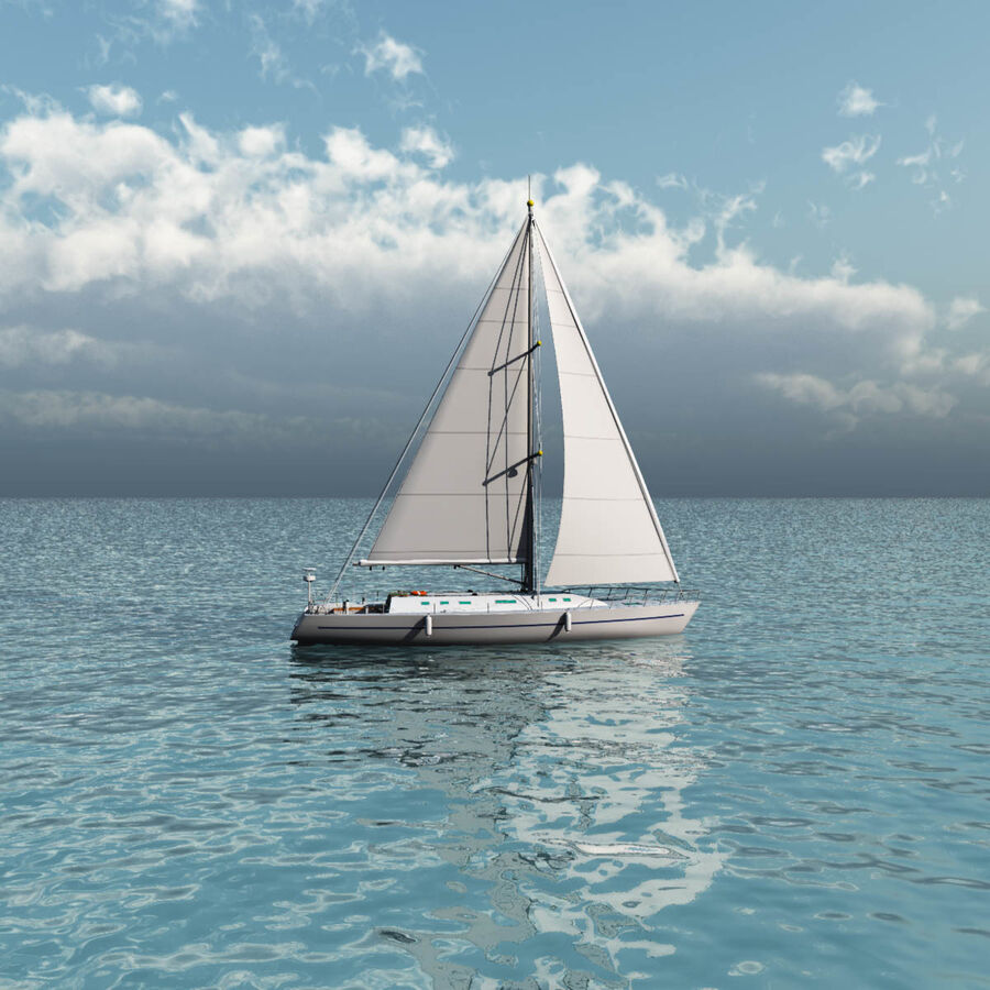 Segelboot royalty-free 3d model - Preview no. 10