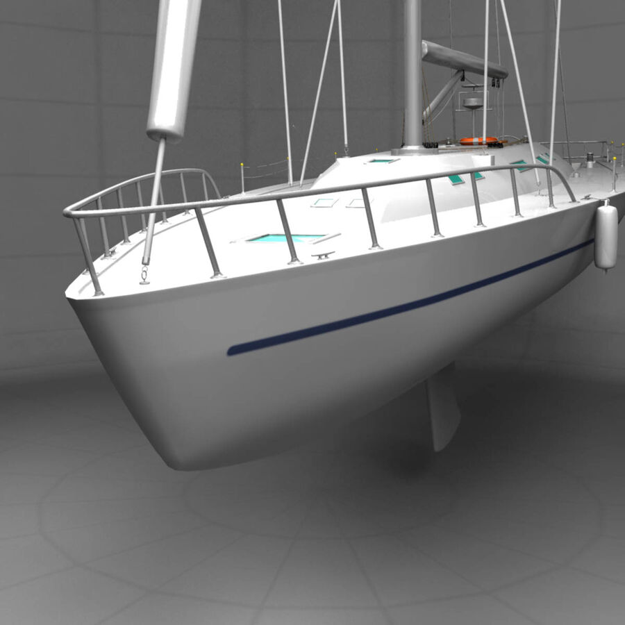Segelboot royalty-free 3d model - Preview no. 6