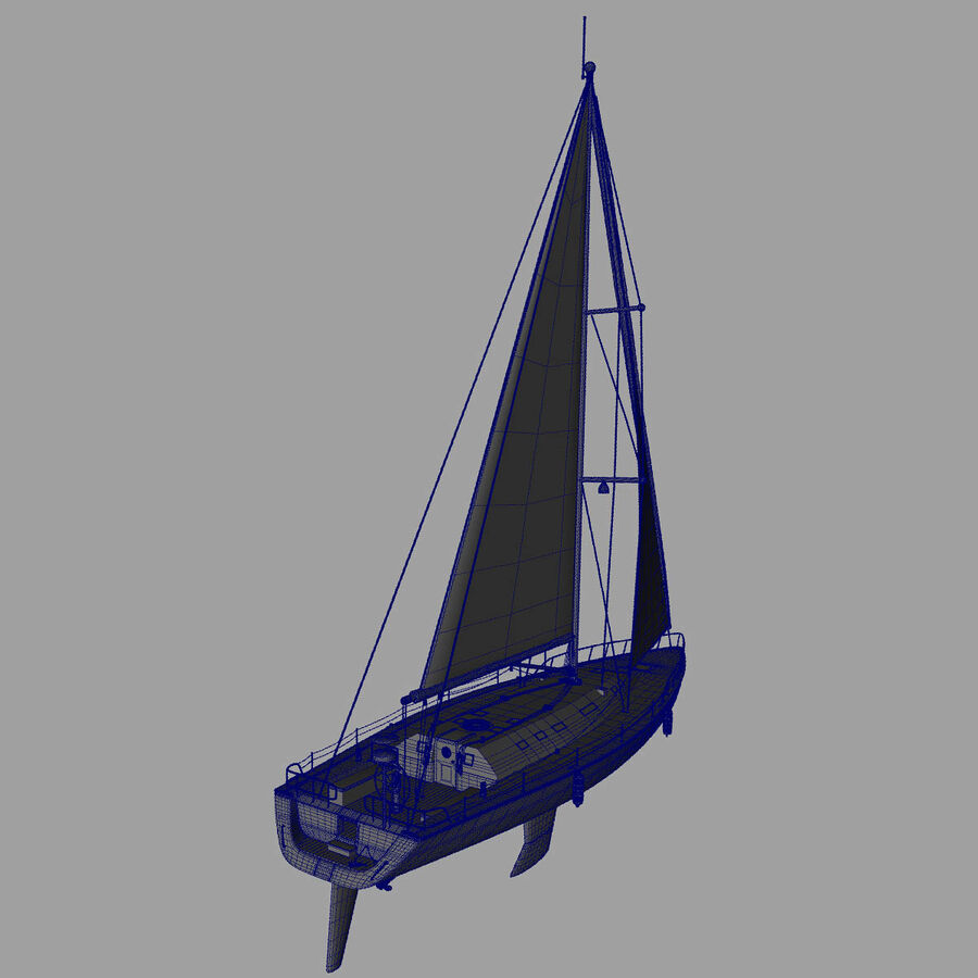Segelboot royalty-free 3d model - Preview no. 20