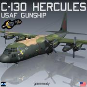 C-130 Hercules GUNSHIP Ghost Rider 3d model