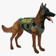 Полицейская овчарка (красное дерево) 3d model