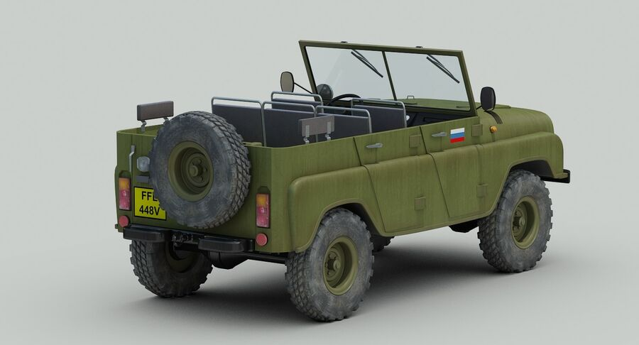UAZ 469 Russischer Jeep royalty-free 3d model - Preview no. 6