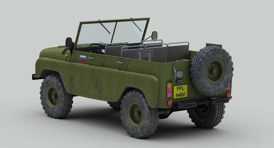 UAZ 469 Russische Jeep royalty-free 3d model - Preview no. 5