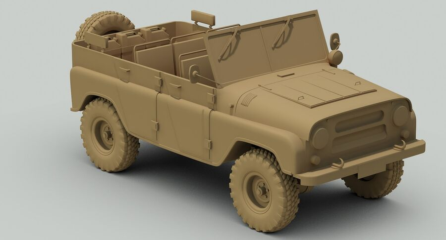 UAZ 469 Russischer Jeep royalty-free 3d model - Preview no. 12