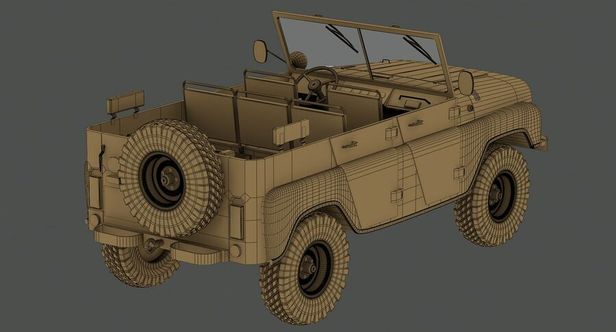 UAZ 469 Russischer Jeep royalty-free 3d model - Preview no. 17