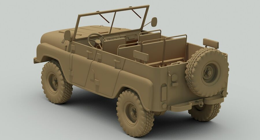 UAZ 469 Russischer Jeep royalty-free 3d model - Preview no. 14
