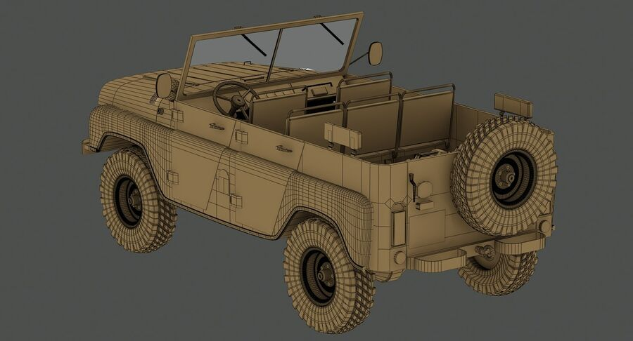 UAZ 469 Russischer Jeep royalty-free 3d model - Preview no. 18