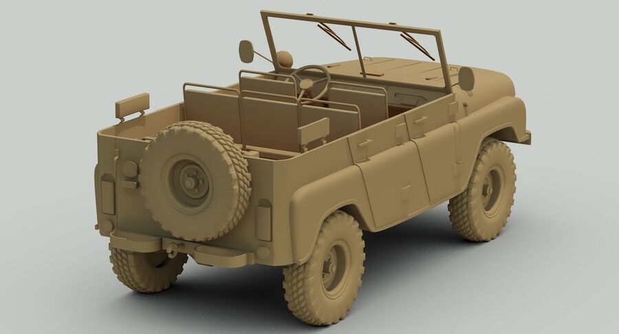 UAZ 469 Russischer Jeep royalty-free 3d model - Preview no. 13