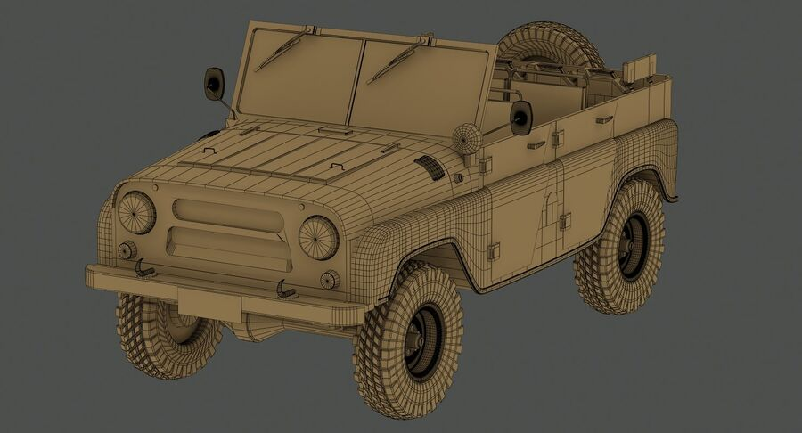 UAZ 469 Russischer Jeep royalty-free 3d model - Preview no. 15