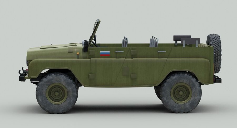 UAZ 469 Russischer Jeep royalty-free 3d model - Preview no. 4