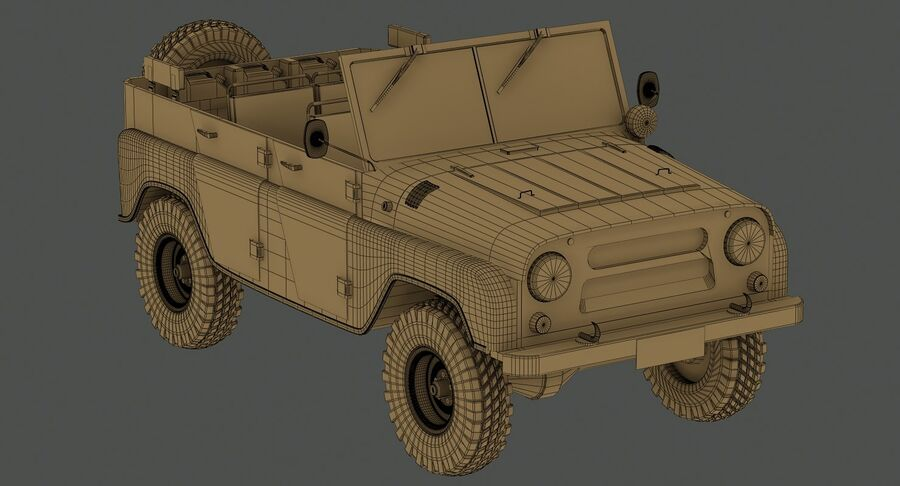 UAZ 469 Russischer Jeep royalty-free 3d model - Preview no. 16