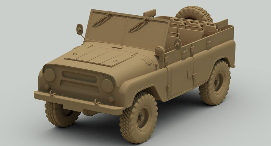UAZ 469 Russischer Jeep royalty-free 3d model - Preview no. 11
