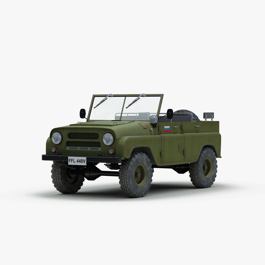 UAZ 469 Russische Jeep royalty-free 3d model - Preview no. 1