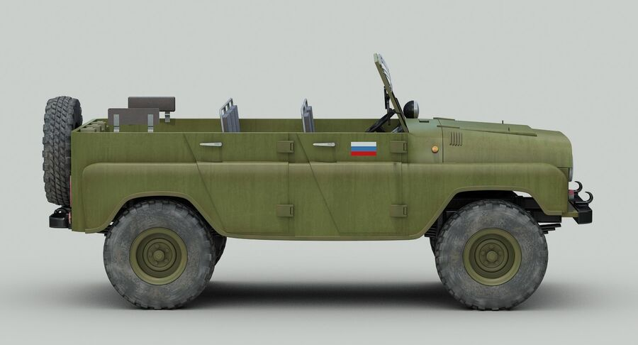 UAZ 469 Russische Jeep royalty-free 3d model - Preview no. 7