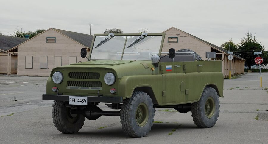 UAZ 469 Russischer Jeep royalty-free 3d model - Preview no. 3