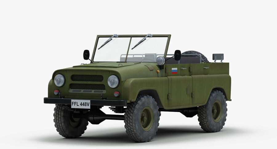 UAZ 469 Russische Jeep royalty-free 3d model - Preview no. 2