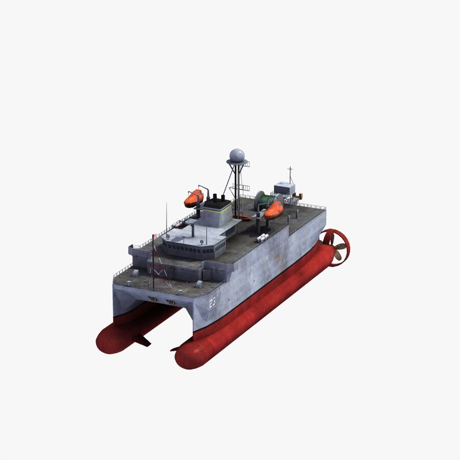USNS Impeccable T-AGOS 23 royalty-free 3d model - Preview no. 27