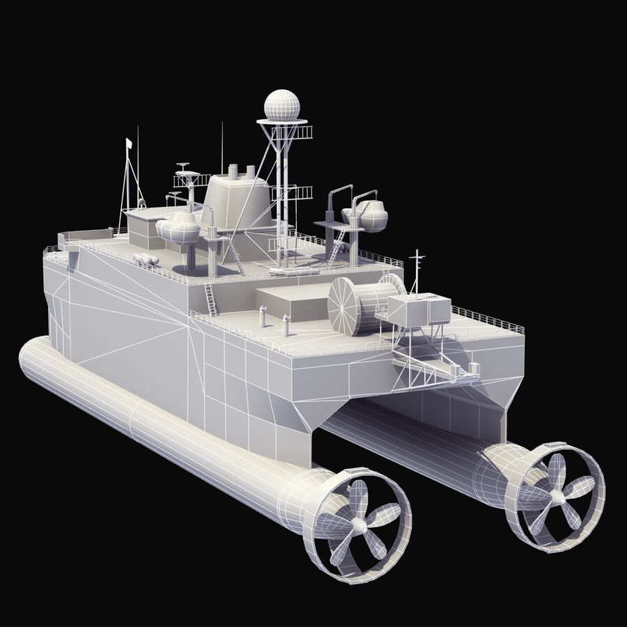 USNS Impeccable T-AGOS 23 royalty-free 3d model - Preview no. 19