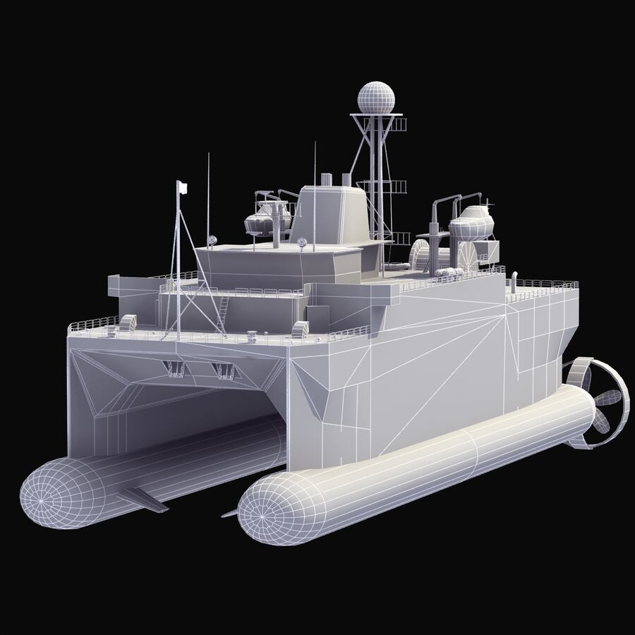 USNS Impeccable T-AGOS 23 royalty-free 3d model - Preview no. 18
