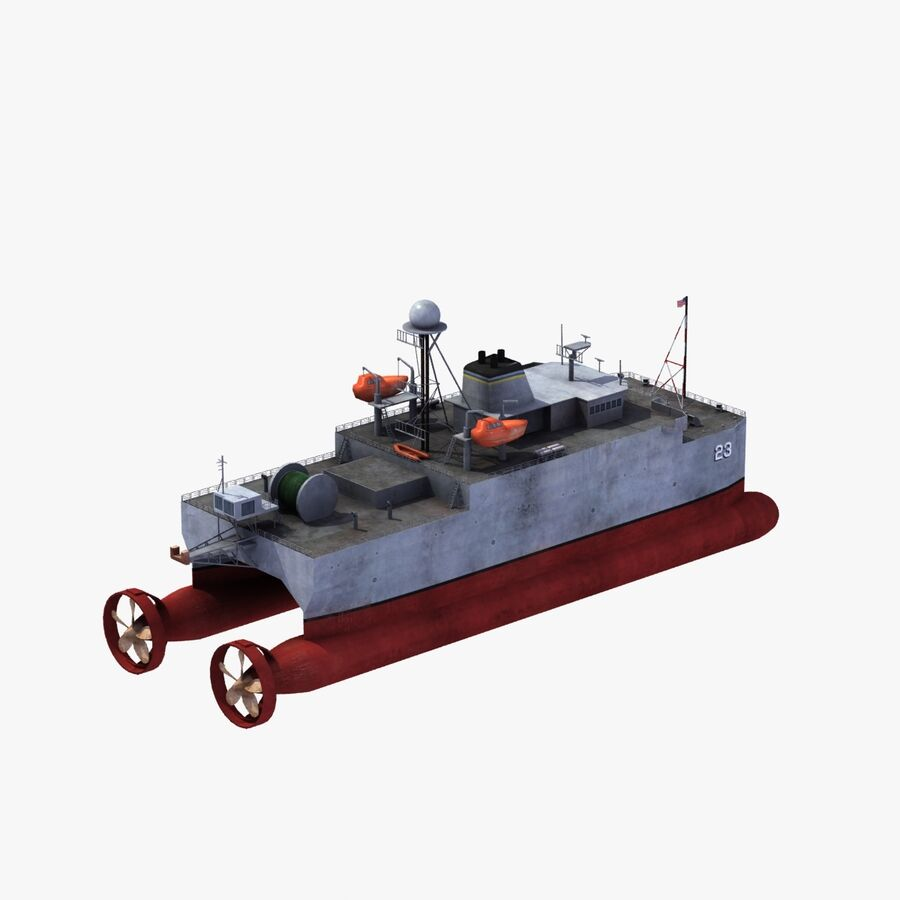 USNS Impeccable T-AGOS 23 royalty-free 3d model - Preview no. 23