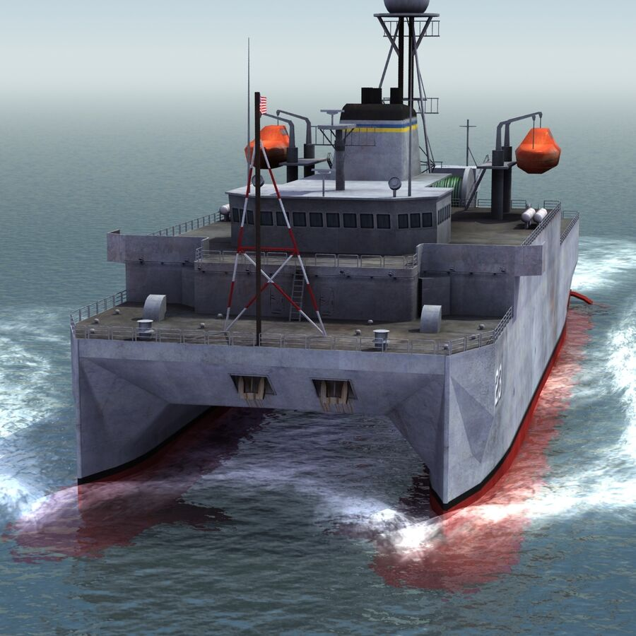 USNS Impeccable T-AGOS 23 royalty-free 3d model - Preview no. 12