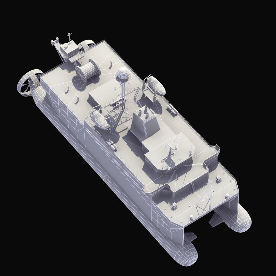 USNS Impeccable T-AGOS 23 royalty-free 3d model - Preview no. 20