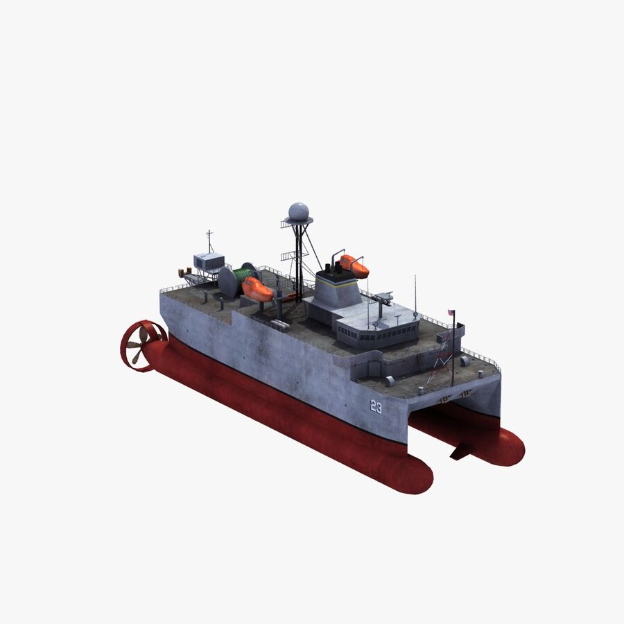 USNS Impeccable T-AGOS 23 royalty-free 3d model - Preview no. 21