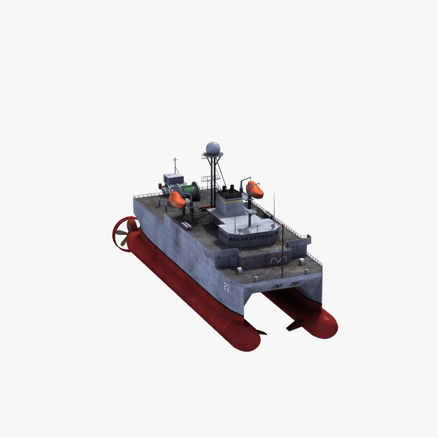 USNS Impeccable T-AGOS 23 royalty-free 3d model - Preview no. 28