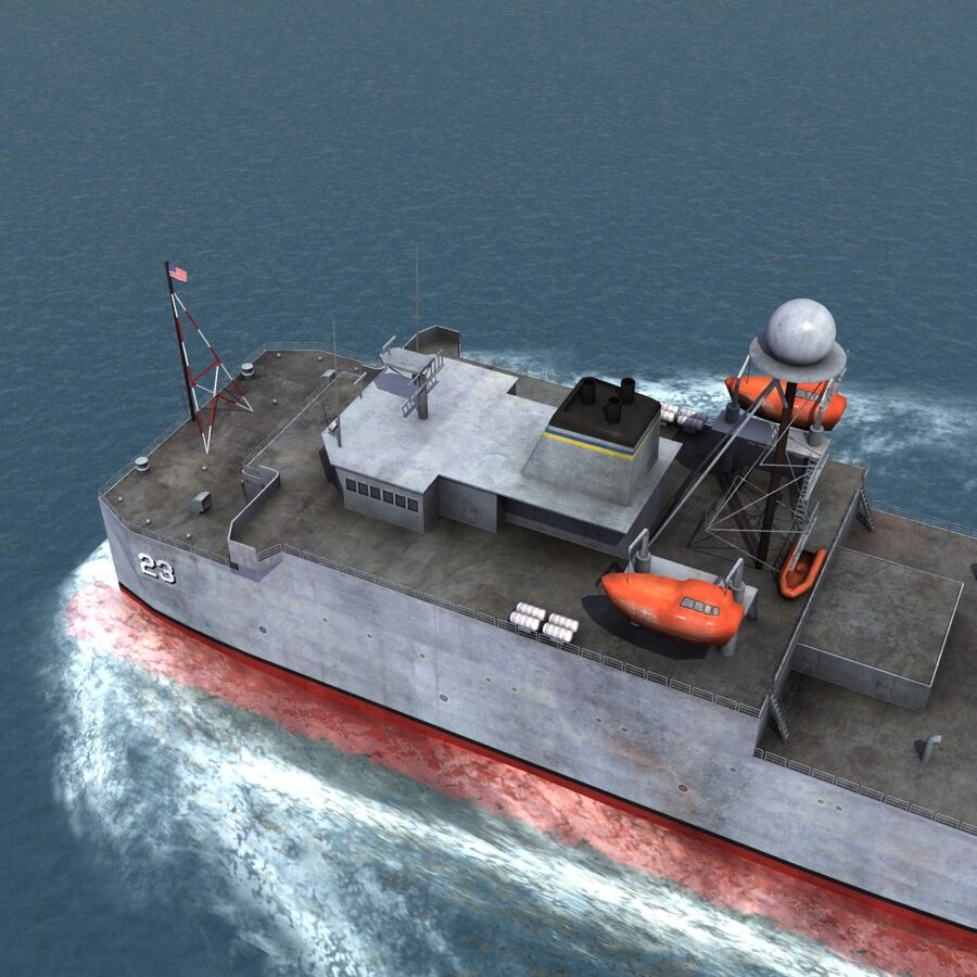 USNS Impeccable T-AGOS 23 royalty-free 3d model - Preview no. 8