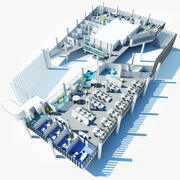Plan de bureau 1 3d model