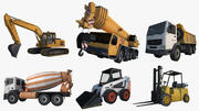 Construction Vehicles Collection 3d model