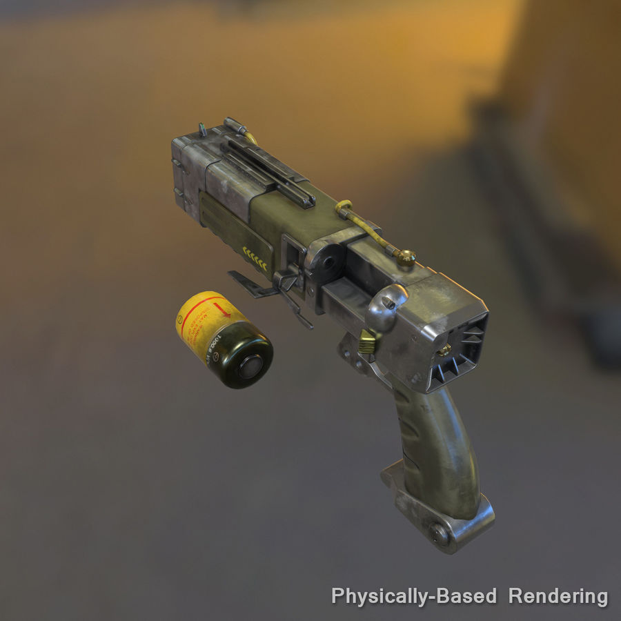 Laser Pistol royalty-free 3d model - Preview no. 13
