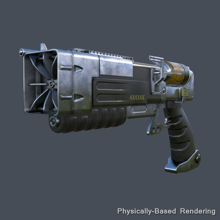 Laser Pistol royalty-free 3d model - Preview no. 9