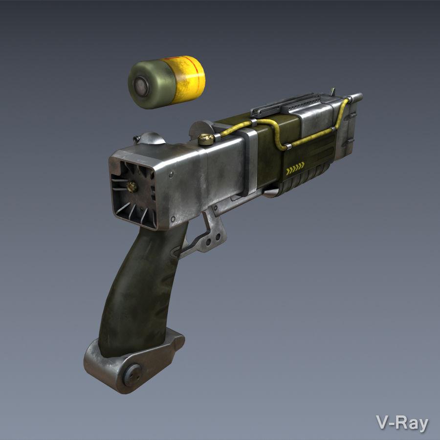 Laser Pistol royalty-free 3d model - Preview no. 6