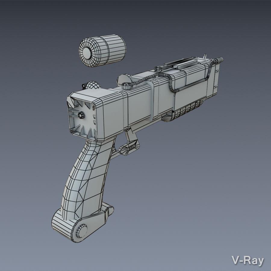 Laser Pistol royalty-free 3d model - Preview no. 7