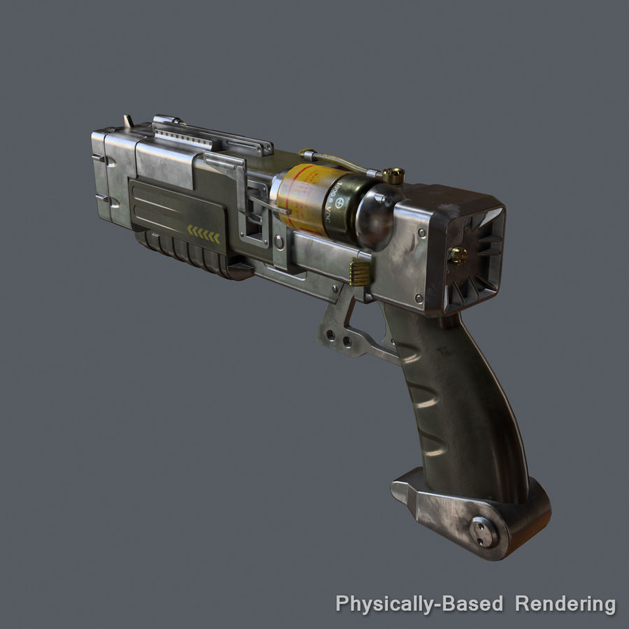 Laser Pistol royalty-free 3d model - Preview no. 10