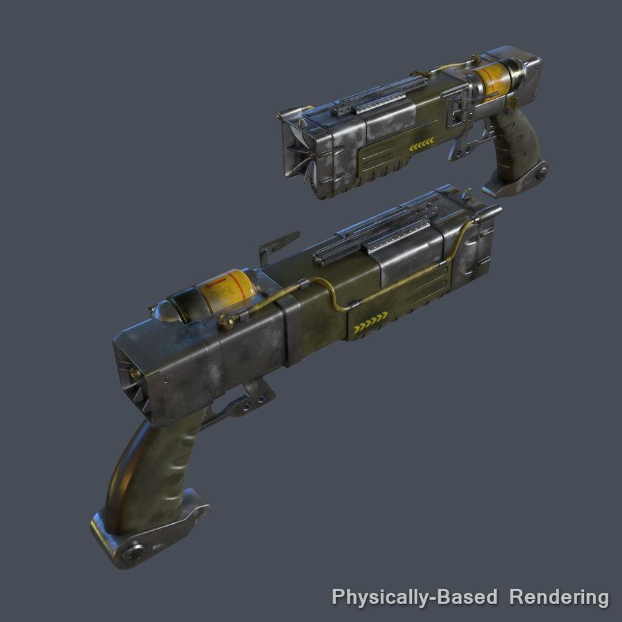 Laser Pistol royalty-free 3d model - Preview no. 12