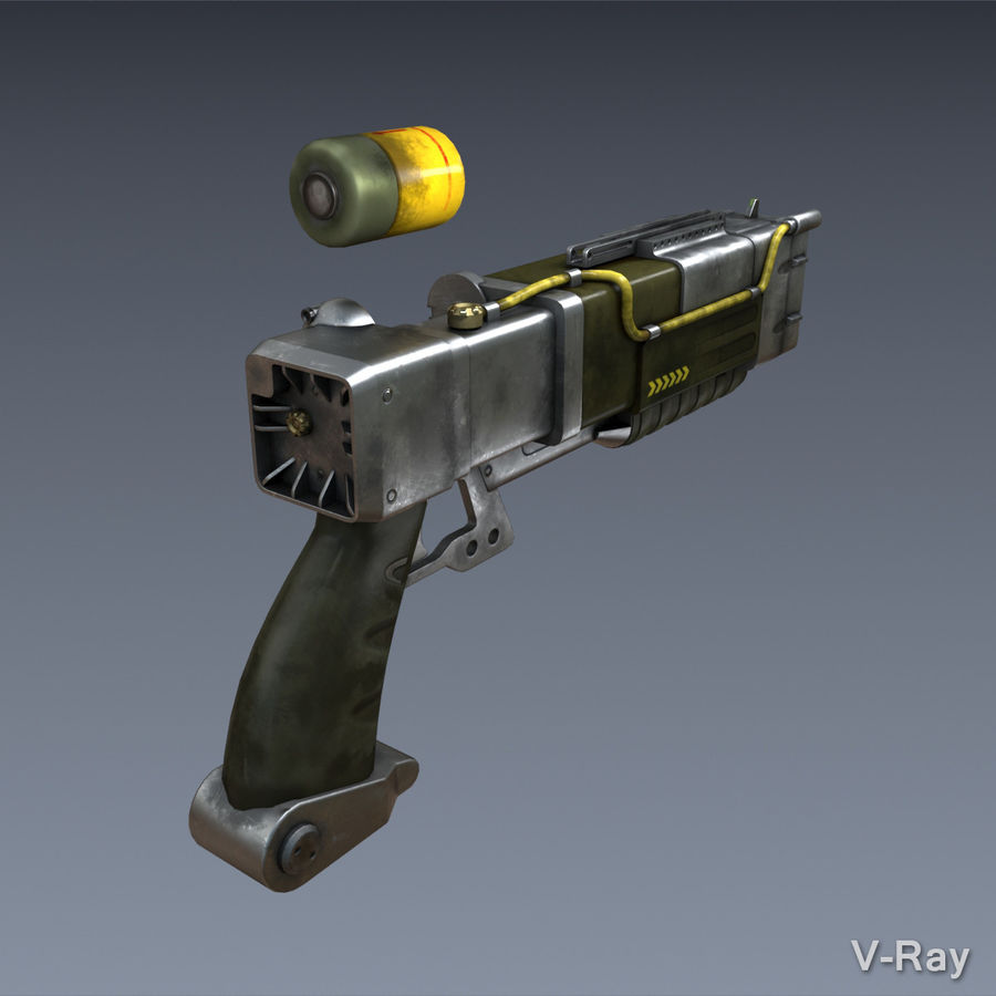 Laser Pistol royalty-free 3d model - Preview no. 6