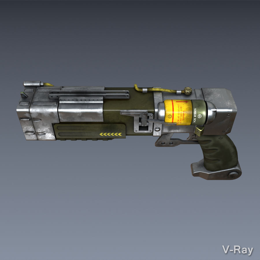 Laser Pistol royalty-free 3d model - Preview no. 2