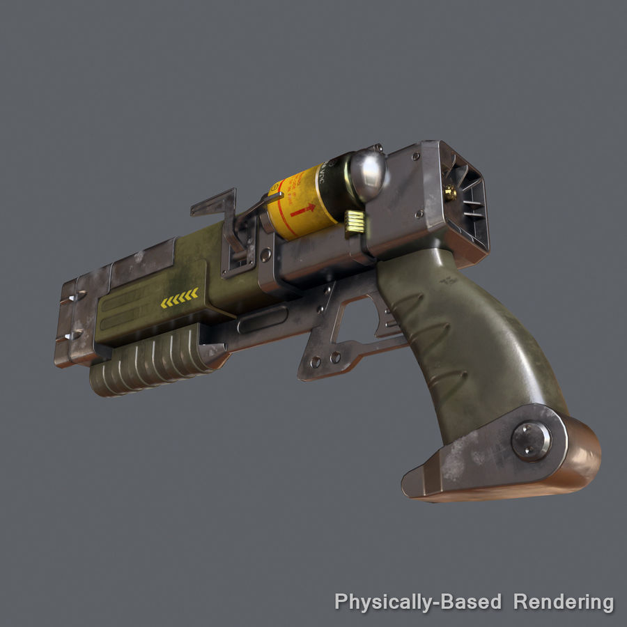 Laser Pistol royalty-free 3d model - Preview no. 11